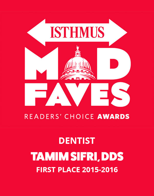 Isthmus Mad Faves Madison's Best Family Dentist Award