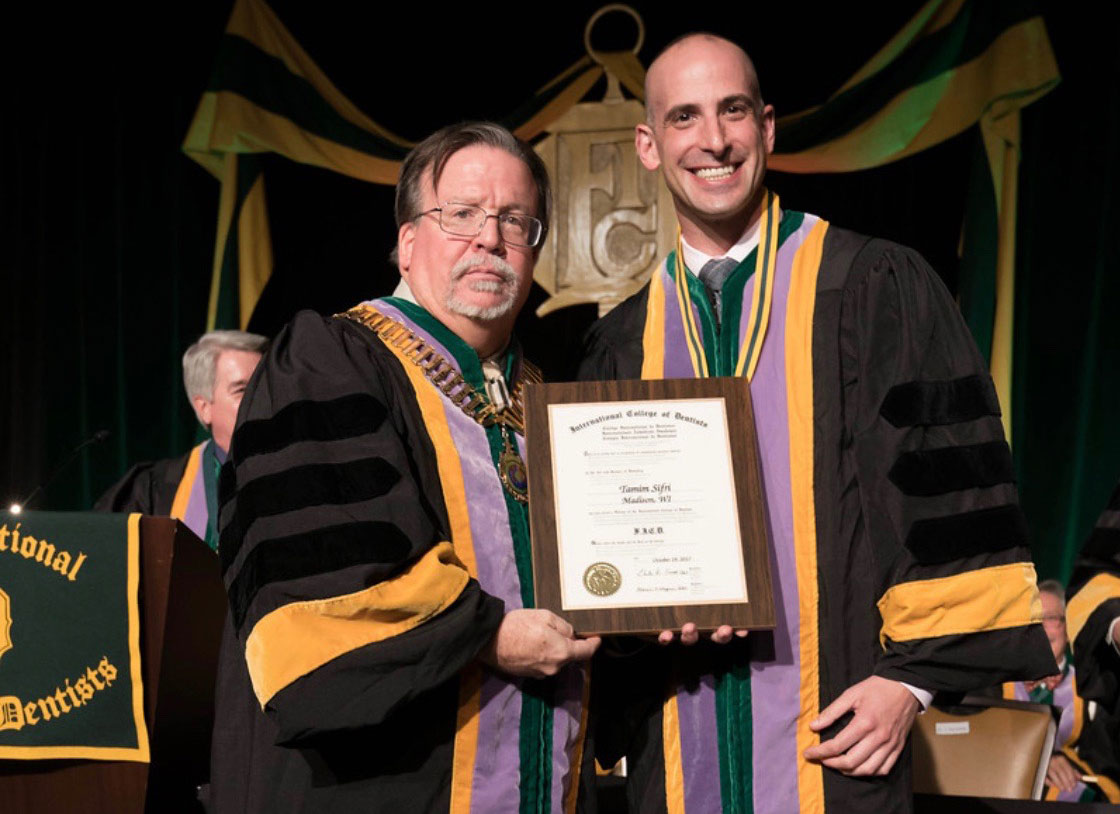 Dr. Tamim Sifri inducted into the International College of Dentists (ICD)